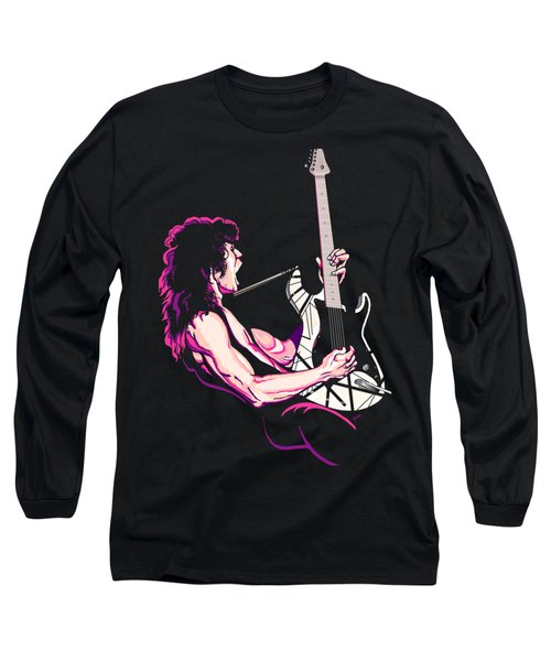 Eddie Van Halen Long Sleeve T-Shirt by GOP Art