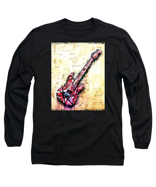 Eddie's Guitar Variation 07 Long Sleeve T-Shirt by Gary Bodnar