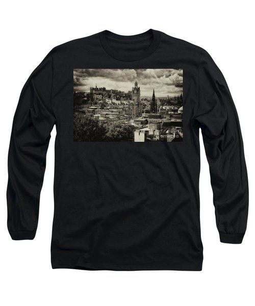 Long Sleeve T-Shirt featuring the photograph Edinburgh In Scotland by Jeremy Lavender Photography