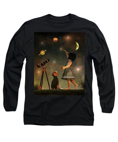 Educating Astronomy Long Sleeve T-Shirt