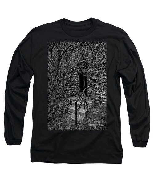 Eerie Entrance To An Old School Long Sleeve T-Shirt