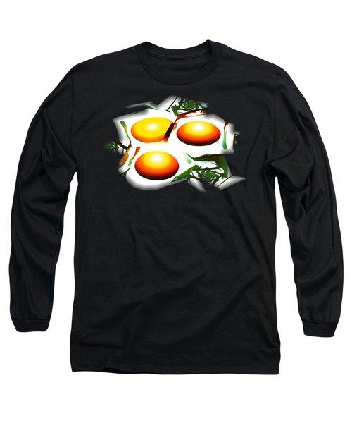 Eggs For Breakfast Long Sleeve T-Shirt by Anastasiya Malakhova