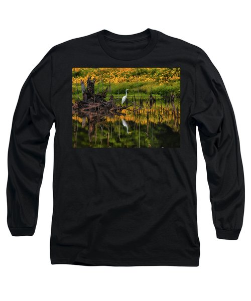 Egret Art  Long Sleeve T-Shirt