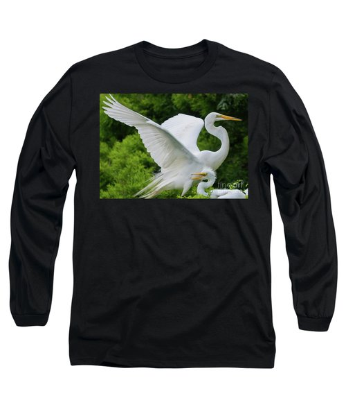 Egret Family Long Sleeve T-Shirt