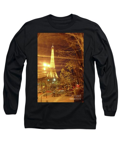 Eiffel Tower By Bus Tour Long Sleeve T-Shirt by Felipe Adan Lerma