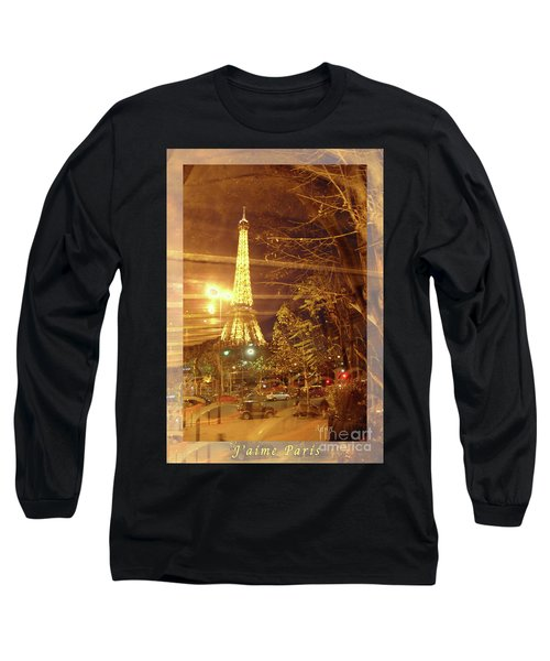 Eiffel Tower By Bus Tour Greeting Card Poster Long Sleeve T-Shirt