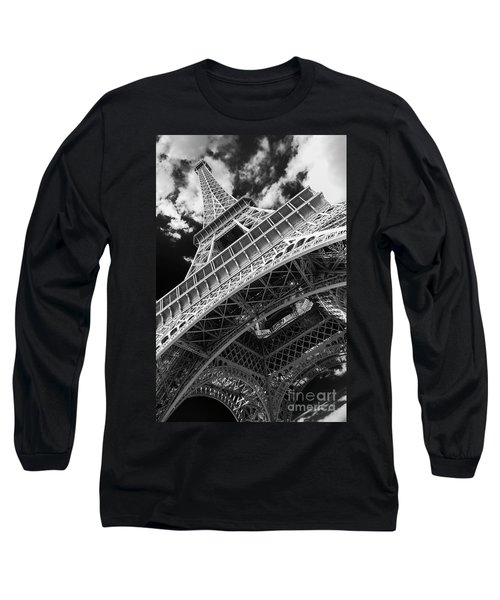 Eiffel Tower Infrared Abstract Long Sleeve T-Shirt