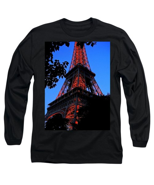 Eiffel Tower Long Sleeve T-Shirt by Juergen Weiss