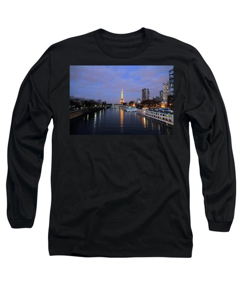 Eiffel Tower Over The Seine Long Sleeve T-Shirt