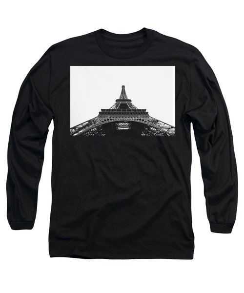 Long Sleeve T-Shirt featuring the photograph Eiffel Tower Perspective  by MGL Meiklejohn Graphics Licensing