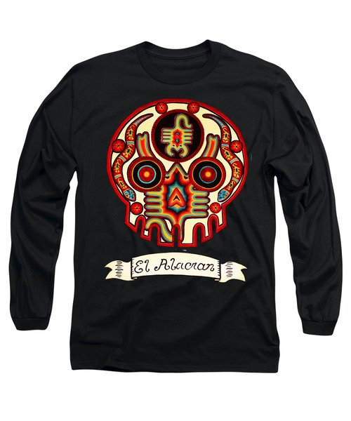 El Alacran - The Scorpion Long Sleeve T-Shirt by Mix Luera