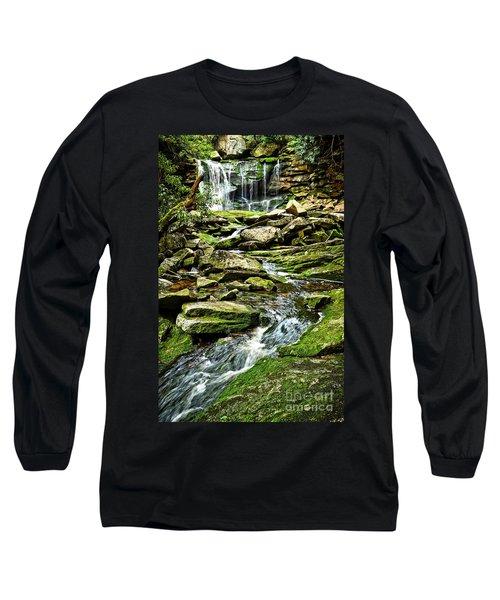 Elakala Falls At Blackwater Falls State Park Long Sleeve T-Shirt