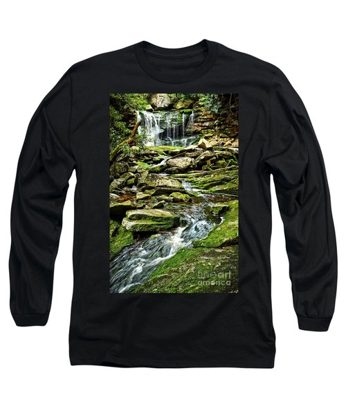Elakala Falls At Blackwater Falls State Park Long Sleeve T-Shirt