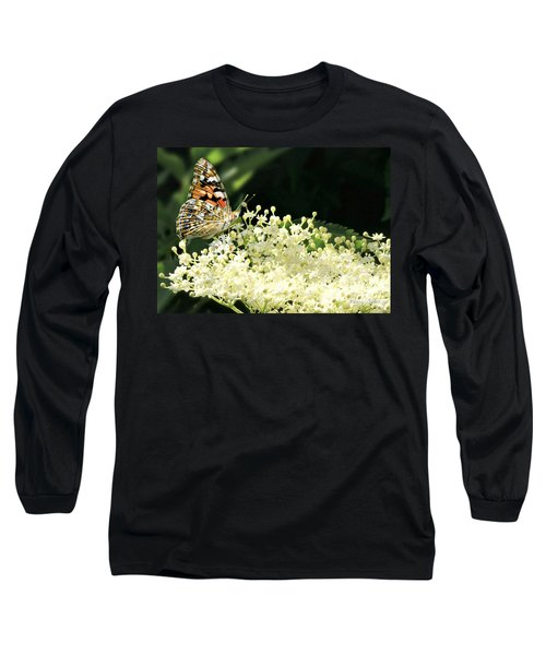 Elderflower And Butterfly Long Sleeve T-Shirt