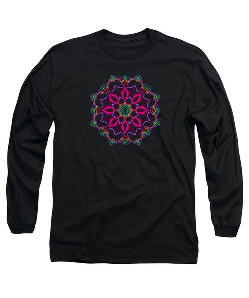 Electric Fractal Flower Long Sleeve T-Shirt