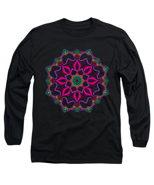 Electric Fractal Flower Long Sleeve T-Shirt