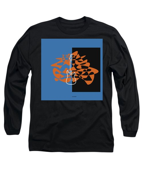Electric Guitar In Blue Long Sleeve T-Shirt