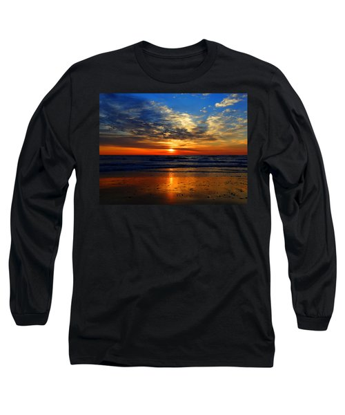 Electric Golden Ocean Sunrise Long Sleeve T-Shirt by Dianne Cowen