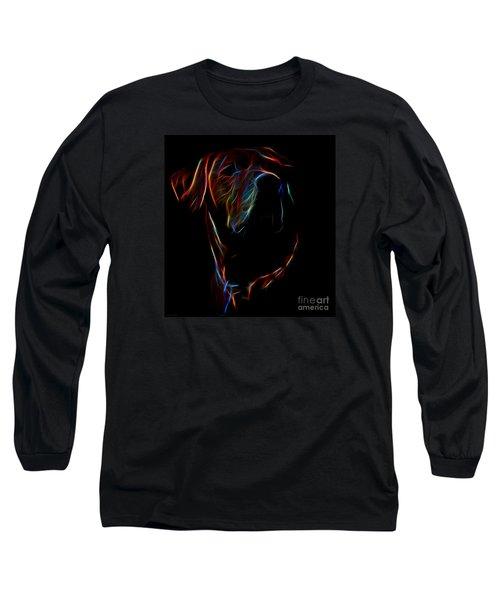 Electric Ridgeback Long Sleeve T-Shirt by Mim White
