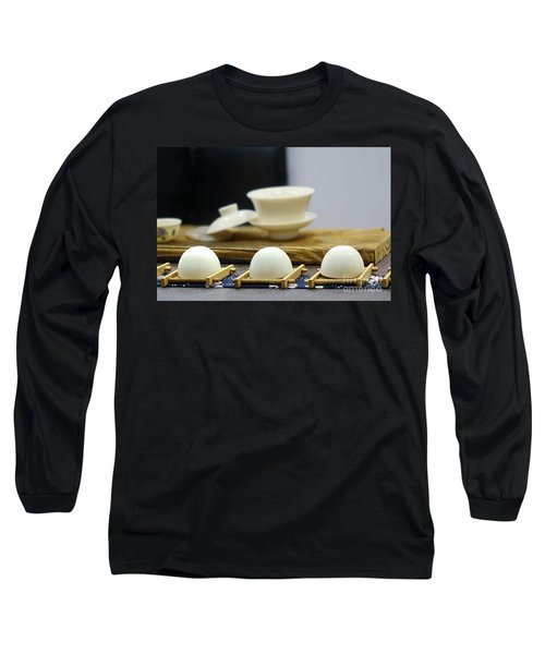Elegant Chinese Tea Set Long Sleeve T-Shirt by Yali Shi