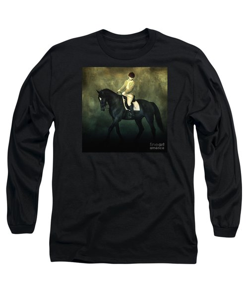 Elegant Horse Rider Long Sleeve T-Shirt