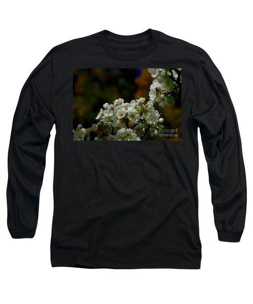 Elegantly White Long Sleeve T-Shirt by Vicki Pelham