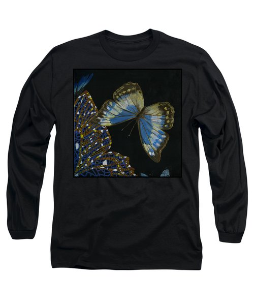 Elena Yakubovich - Butterfly 2x2 Top Right Corner Long Sleeve T-Shirt