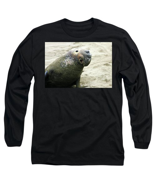 Long Sleeve T-Shirt featuring the photograph Elephant Seal by Anthony Jones