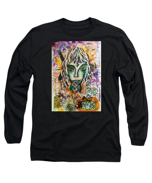 Long Sleeve T-Shirt featuring the mixed media Elf by Mimulux patricia no No