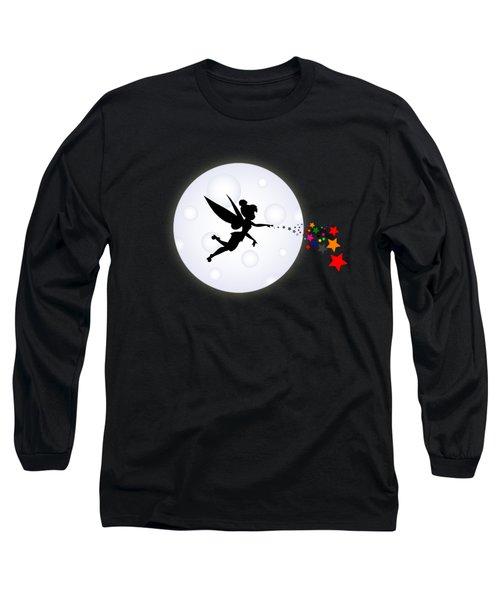 Elf Starry Night Long Sleeve T-Shirt by Koko Priyanto