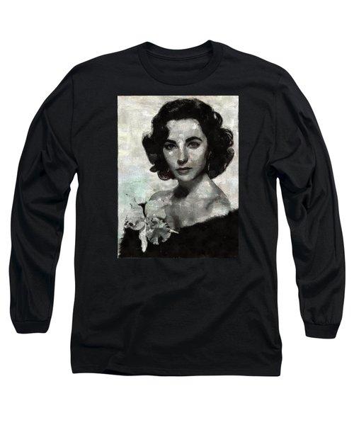 Elizabeth Taylor Long Sleeve T-Shirt by Mary Bassett