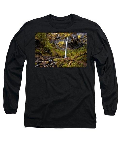 Elowah Falls Oregon Long Sleeve T-Shirt
