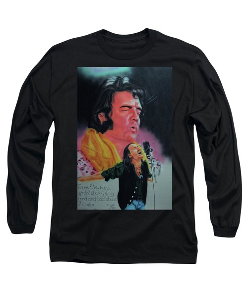 Elvis And Jon Long Sleeve T-Shirt by Thomas J Herring