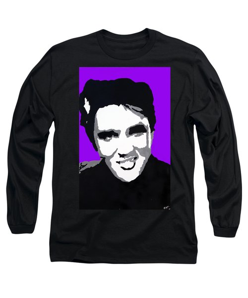 Long Sleeve T-Shirt featuring the drawing Elvis Don't Live Here Anymore by Robert Margetts