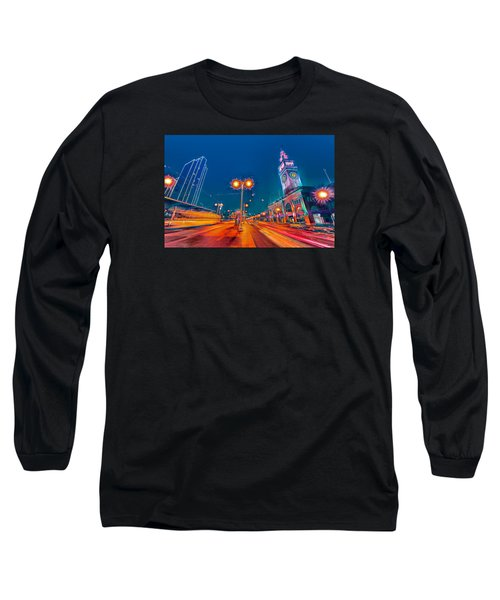 Long Sleeve T-Shirt featuring the photograph Embarcadero Lights by Steve Siri