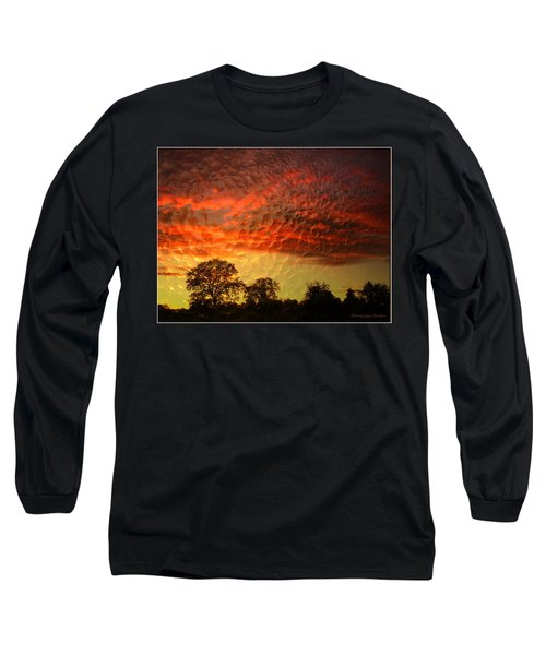 Long Sleeve T-Shirt featuring the photograph Embossed Sunrise by Joyce Dickens