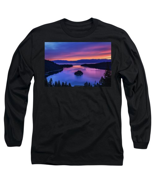 Emerald Bay Clouds At Sunrise Long Sleeve T-Shirt by Marc Crumpler