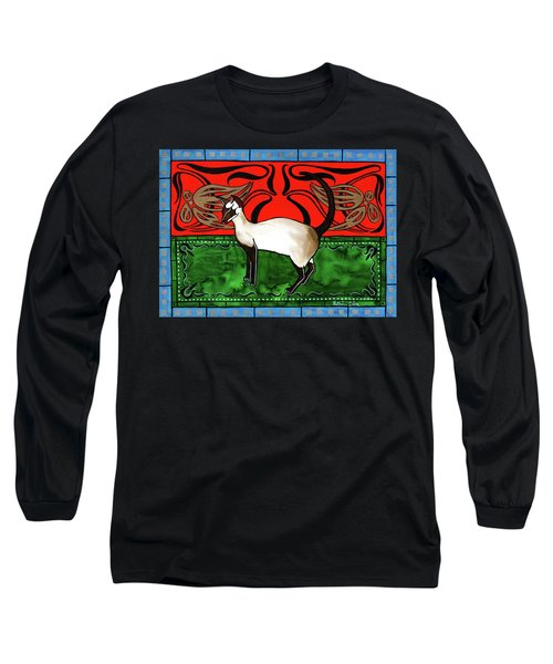 Emerald Meets Siamese Long Sleeve T-Shirt