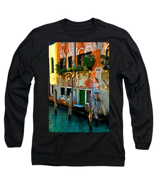 Empty Dock Long Sleeve T-Shirt by Harry Spitz