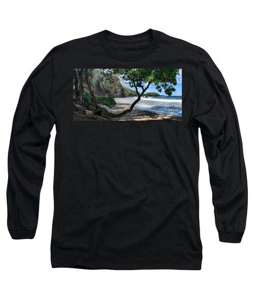 Enchanted Rocks Koki Beach Haneoo Hana Maui Hawaii Long Sleeve T-Shirt