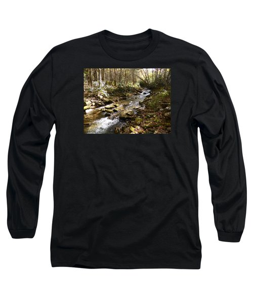 Enchanted Stream - October 2015 Long Sleeve T-Shirt by Joel Deutsch