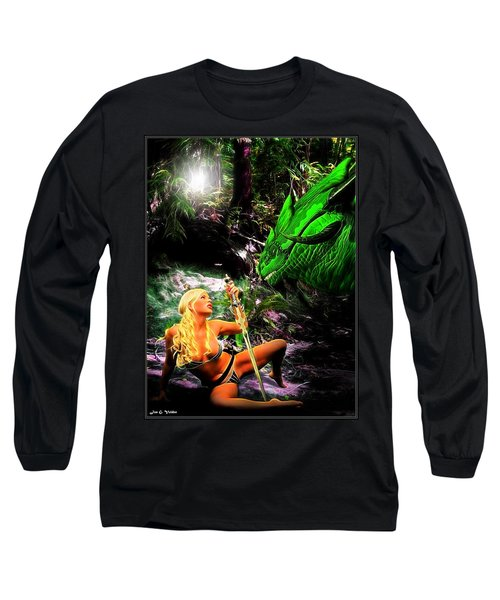 Encounter With A Dragon Long Sleeve T-Shirt