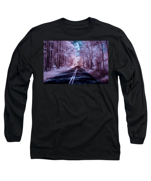 Long Sleeve T-Shirt featuring the photograph End Of The Road by Louis Ferreira