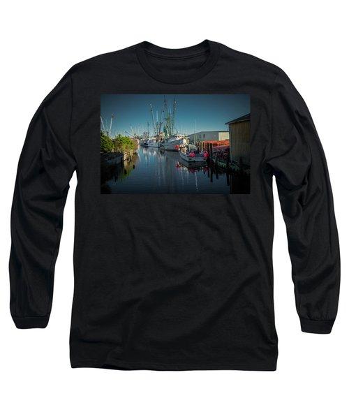 Englehardt,nc Fishing Town Long Sleeve T-Shirt