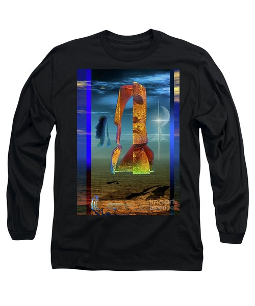 Long Sleeve T-Shirt featuring the digital art Enigma by Shadowlea Is