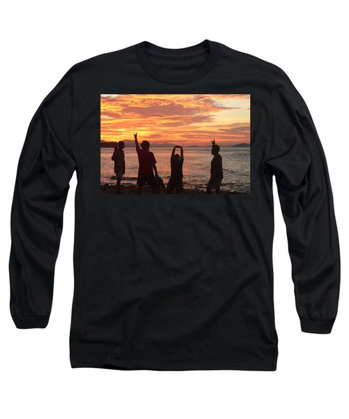 Enjoying Sunrise With Friends Long Sleeve T-Shirt