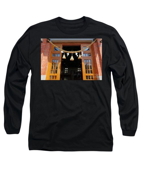 Entrance To The Wu De Martial Arts Hall Long Sleeve T-Shirt by Yali Shi