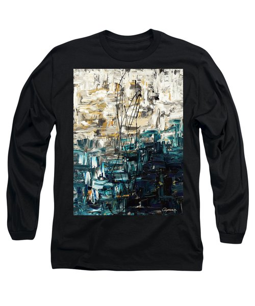 Long Sleeve T-Shirt featuring the painting Envisioning by Carmen Guedez
