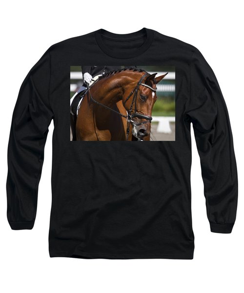 Long Sleeve T-Shirt featuring the photograph Equestrian At Work D4913 by Wes and Dotty Weber