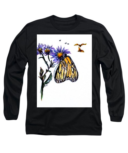 Erika's Butterfly One Long Sleeve T-Shirt by Clyde J Kell